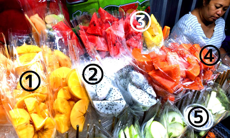 タイ屋台フルーツの種類