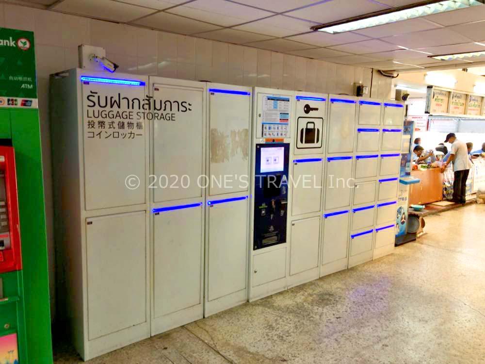 エカマイバスターミナルのコインロッカー