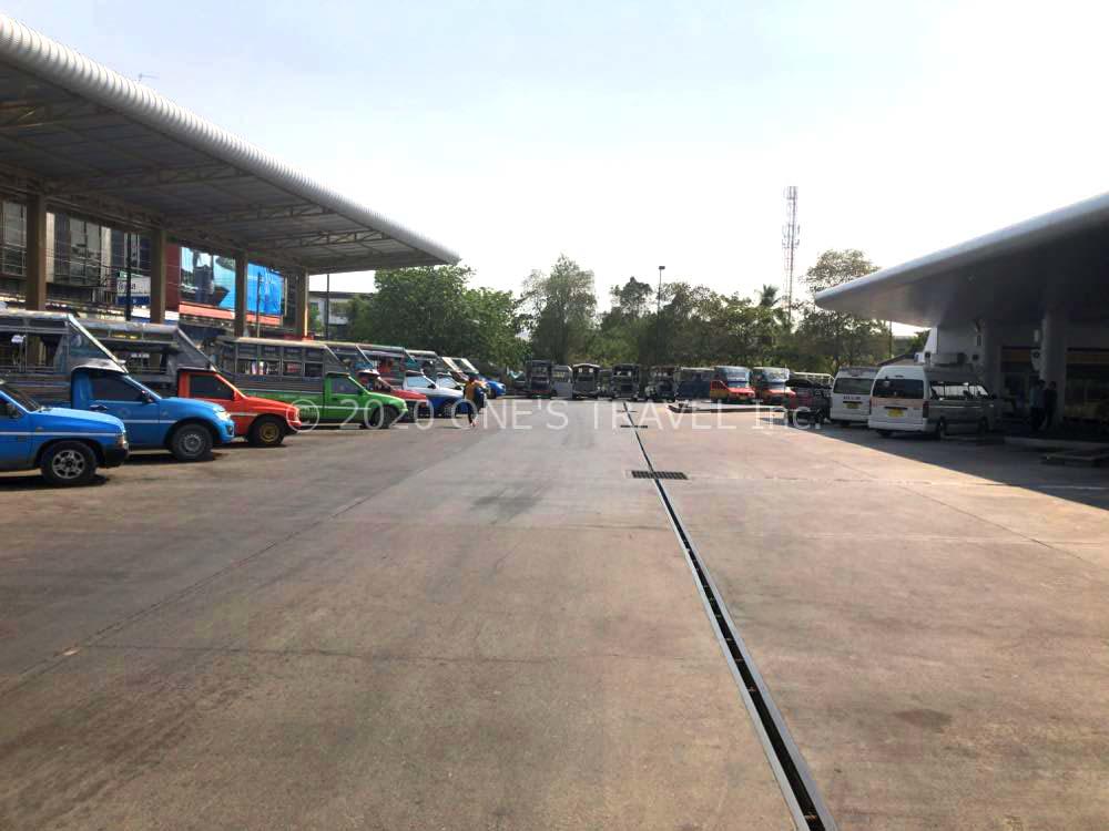 チャチュンサオのバスターミナル