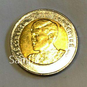 新10バーツ硬貨(表)